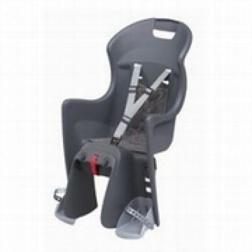 Bērnu krēsliņš POLISPORT BOODIE CFS uz bagāžnieka dark grey/silver