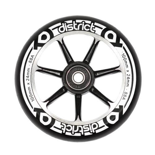 Skūtera riteņi DISTRICT S-SERIES black/black 100mm
