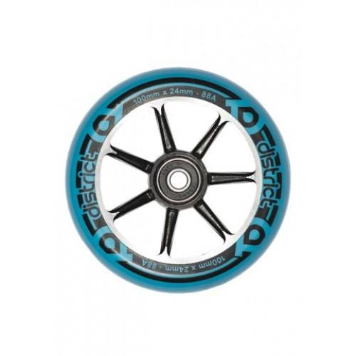 Skūtera riteņi DISTRICT S-SERIES black/blue 100mm