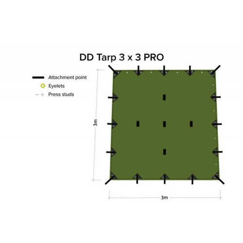 Tents DD TARP 3x3 PRO olive green