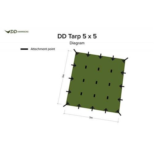 Tents DD TARP 5x5 olive green