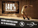 Visām skrituļslidām un to aksesuāriem - MĪNUS 40%